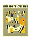 Emergency Escape Plan 3 Posters par Jazzberry Blue