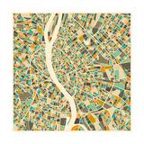 Budapest Map Affiches par Jazzberry Blue