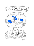 Recounting - Cartoon Premium Giclee Print by David Sipress