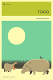 Visit Togo Poster von Jazzberry Blue