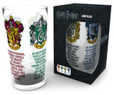 Harry Potter - House Crests 500 ml Glass Regalos