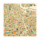 Amsterdam Map Art par Jazzberry Blue