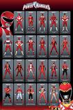 Power Rangers- Red Ranger Evolution Prints