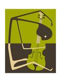 The Blues' Cello Kunstdrucke von Jazzberry Blue