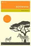 Visit Botswana Poster von Jazzberry Blue