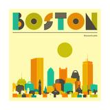 Horizon de Boston Affiches par Jazzberry Blue