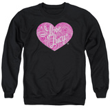 Crewneck Sweatshirt: I Love Lucy- Floral Logo T-shirts
