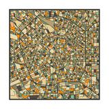 Milan Map Poster par Jazzberry Blue