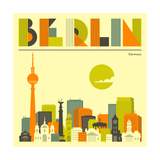Berlin Skyline Poster von Jazzberry Blue