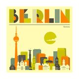 Berlin Skyline Poster by Jazzberry Blue