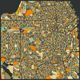 San Francisco Map Reproduction d'art par Jazzberry Blue