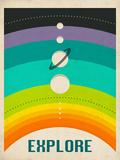 Sonnensystem Poster von Jazzberry Blue