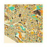 Melbourne Map Prints by Jazzberry Blue