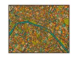Paris Street Map Affischer av Jazzberry Blue