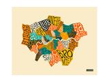 London Boroughs ポスター : Jazzberry Blue