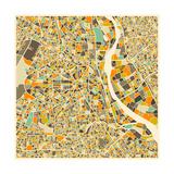 New Delhi Map Prints by Jazzberry Blue