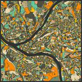 Pittsburgh Map Affiches par Jazzberry Blue