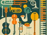 Just Jazz Poster van Jazzberry Blue