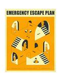 Emergency Escape Plan 2 Affiches par Jazzberry Blue