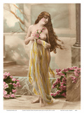 Classic Vintage Hand-Colored Nude Art - Beautiful Belle Époque Erotica Poster by  Studio NPG