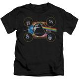 Juvenile: Pink Floyd- Distressed Dark Side Band Stamp Shirt
