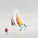 La bouée rouge Affiche par Gérard de Courcy