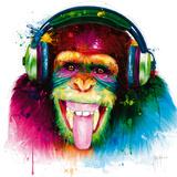 DJ Monkey Poster van Patrice Murciano