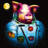 Pig in Space Print by Patrice Murciano