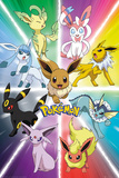 Pokemon- Eevee Evolution Kunstdrucke