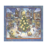 Starlight Christmas Stampa giclée di Kim Jacobs