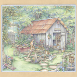 Garden Shed Giclee Print by Kim Jacobs