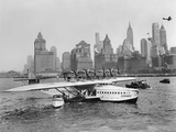 Dornier Do X Flying Boat in the Port of New York, 1931 Fotografisk trykk av Scherl Süddeutsche Zeitung Photo