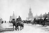 Red Square and St. Basil's Cathedral in Moscow, 1905 Fotografisk tryk af  Süddeutsche Zeitung Photo