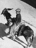 Boy Riding a Donkey in Italy, 1939 Photographic Print by Knorr Hirth Süddeutsche Zeitung Photo