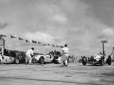 Nuerburgring: Racing Cars before the Start Metal Print by Scherl Süddeutsche Zeitung Photo