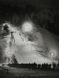 Olympic Winter Games in Garmisch-Partenkirchen, 1936 Fotografisk trykk av Scherl Süddeutsche Zeitung Photo