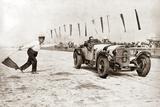 Christian Werner während einem Rennen auf dem Nürburgring, 1928 Fotografie-Druck von Scherl Süddeutsche Zeitung Photo
