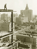 Construction of a Skyscraper in New York, 1928 Photographic Print by Scherl Süddeutsche Zeitung Photo