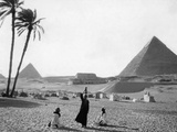Pyramids of Giza, 1928 Reproduction photographique par Scherl Süddeutsche Zeitung Photo