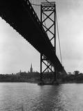 Ambassador Bridge in Detroit, 1935 Fotografisk trykk av Scherl Süddeutsche Zeitung Photo