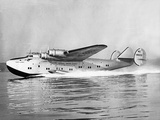 "Boeing 314 Clipper ""Yankee Clipper"" Taking Off, 1939 Valokuvavedos tekijänä Scherl Süddeutsche Zeitung Photo"