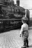 Steam Locomotive in Germany, 1936 Fotografisk trykk av Knorr Hirth Süddeutsche Zeitung Photo