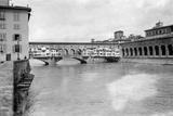 The Ponte Vecchio in Florence, 1909 Photographic Print by Scherl Süddeutsche Zeitung Photo