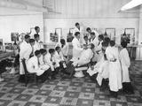 A Boy's Class in Barbering in Paris, 1936 Photographic Print by  Süddeutsche Zeitung Photo