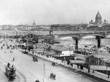 Nikolai-Bridge in Saint Petersburg, 1916 Fotografisk tryk af Scherl Süddeutsche Zeitung Photo