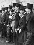 Westminster School Students Cheering for their Football Team in London, 1931 Photographic Print by  Süddeutsche Zeitung Photo
