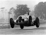 Manfred von Brauchitsch wird Zweiter beim Donington Grand Prix 1937 Fotografie-Druck von Scherl Süddeutsche Zeitung Photo