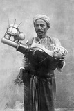 Egyptian Street Vendor in Cairo, 1928 Fotografisk trykk av Scherl Süddeutsche Zeitung Photo