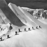 Glacier Tour on Piz Bernina Fotografisk trykk av Knorr Hirth Süddeutsche Zeitung Photo