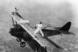 Tennis on a Plane, 1925 Fotografisk trykk av Scherl Süddeutsche Zeitung Photo